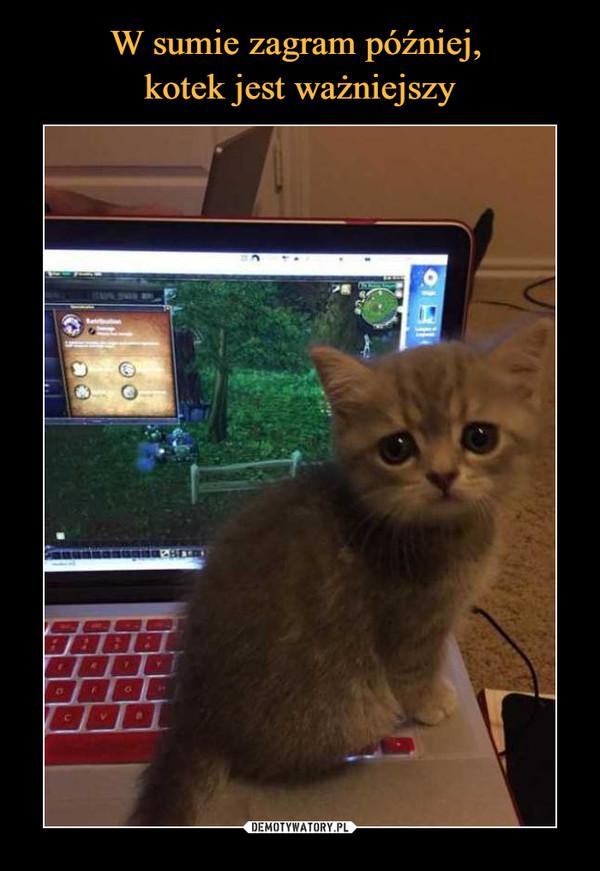 W sumie zagram później, kotek jest ważniejszy